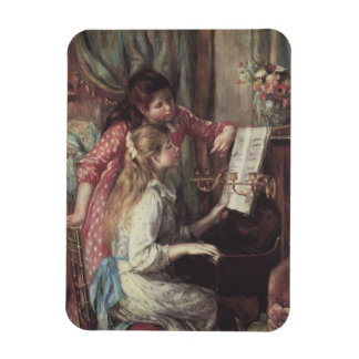 Young Girls at the Piano, Renoir Impressionism Art Rectangular Photo Magnet