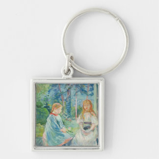 Young Girls at the Window, 1892 Keychain