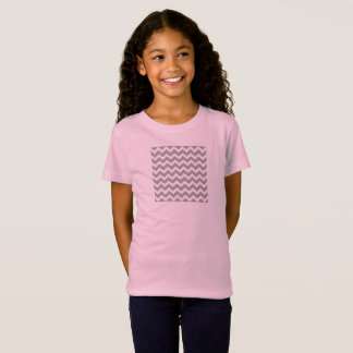 Young girls fashion : pink and grey T-Shirt