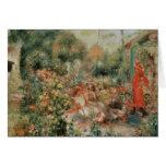 Young Girls in a Garden - Pierre Auguste Renoir Card