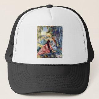 Young girls in the meadow by Pierre Renoir Trucker Hat