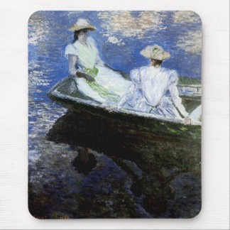 Young Girls in the Rowing Boat Mouse Pad