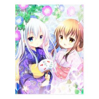 Young Girls In Yukata Postcard