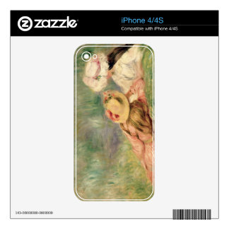 Young Girls on the River Bank (oil on canvas) Decal For iPhone 4S