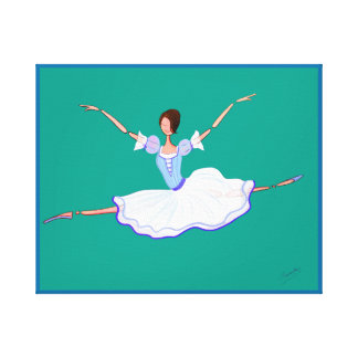 YOUNG GISELLE, HAPPY BALLERINA IN LOVE CANVAS