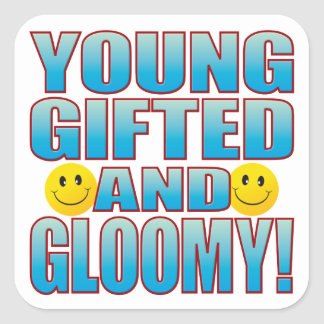 Young Gloomy Life B Square Sticker