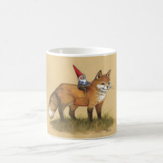 Young Gnome and Fox Classic White Coffee Mug