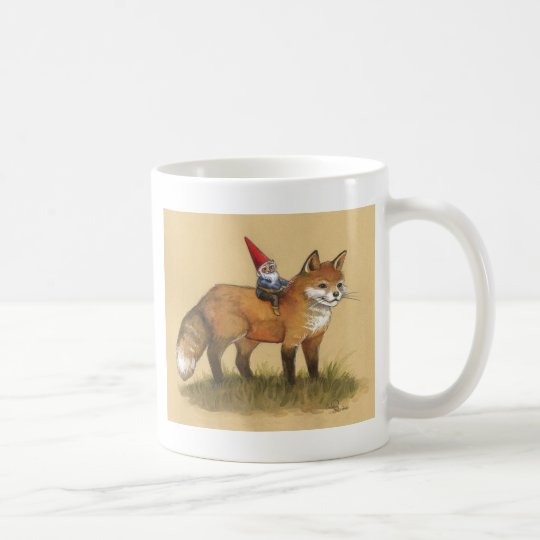 Young Gnome and Fox Coffee Mug