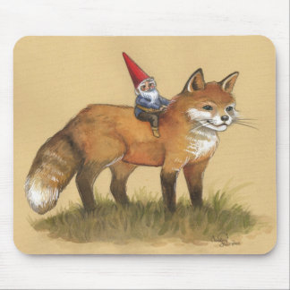 Young Gnome and Fox Mouse Pad