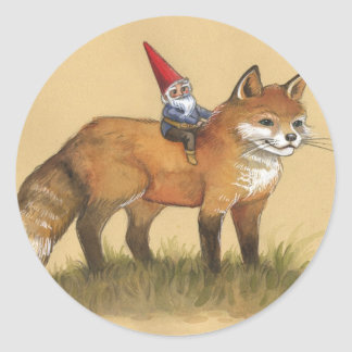 Young Gnome and Fox Stickers