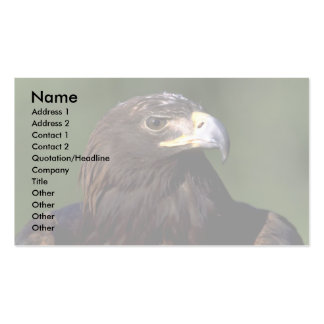 Young golden eagle business card
