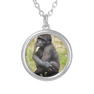 Young gorilla personalized necklace