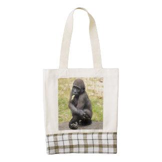 young Gorilla Zazzle HEART Tote Bag