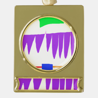 Young-Gradually Gold Plated Banner Ornament