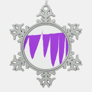 Young-Gradually Snowflake Pewter Christmas Ornament