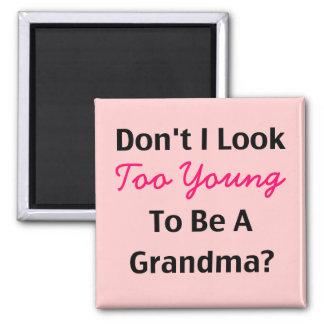 Young Grandma (customizable) Fridge Magnets