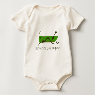 Young Grasshopper Baby Bodysuit
