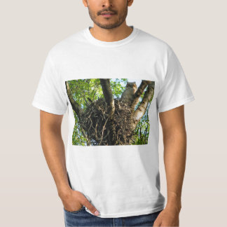 Young Great Horned Owl at Nest T-Shirt
