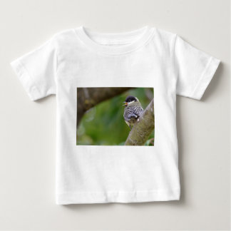 Young great passerine on branch baby T-Shirt