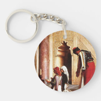 Young Greeks at the Mosque by Jean-Leon Gerome Acrylic Key Chain