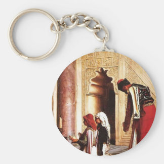 Young Greeks at the Mosque by Jean-Leon Gerome Key Chain