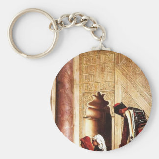 Young Greeks at the Mosque by Jean-Leon Gerome Keychain