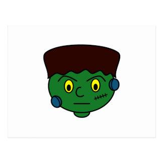 Young Green Frankenstein Postcard