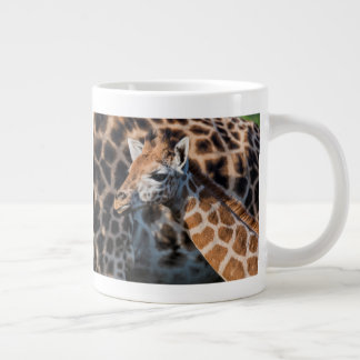 Young Griaffe by its Mother Large Coffee Mug
