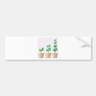 Young Growing Plant vector in a pot Bumper Sticker