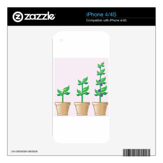Young Growing Plant vector in a pot Decals For The iPhone 4S