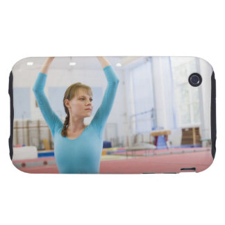 Young gymnast posing tough iPhone 3 case