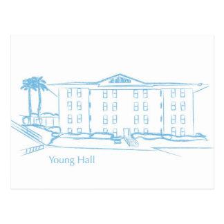 Young Hall Postcard