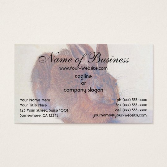 Young Hare by Albrecht Dürer Business Card