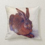 Young Hare by Albrecht Durer, Renaissance Art Pillow
