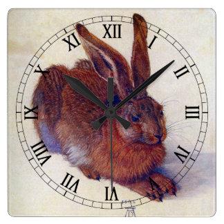 Young Hare by Albrecht Durer, Renaissance Fine Art Square Wall Clock