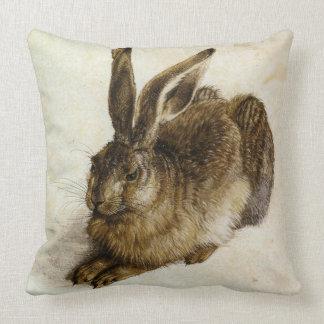 'Young Hare' Reversed by Albrecht Dürer Throw Pillow
