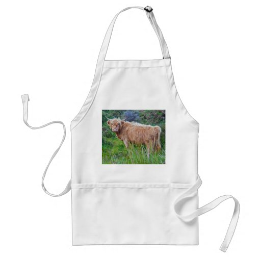 Young Highland Cow Apron