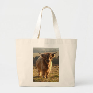 Young Highland Cow Tote Bag