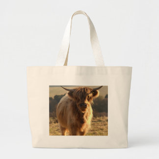 Young Highland Cow Tote Bags