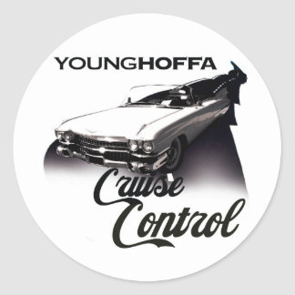 Young Hoffa Cruise Control Classic Round Sticker