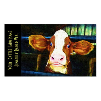 Young Holstein Veal Calf Business Card