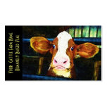 Young Holstein Veal Calf Business Cards
