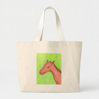 Young horse, colt, in watercolor Bag