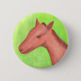 Young horse, colt, in watercolor Buttons