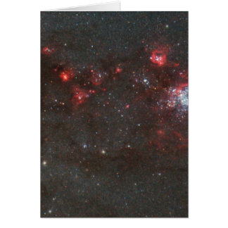 Young, Hot Stars in a Spiral Arm of the Whirlpool Greeting Card