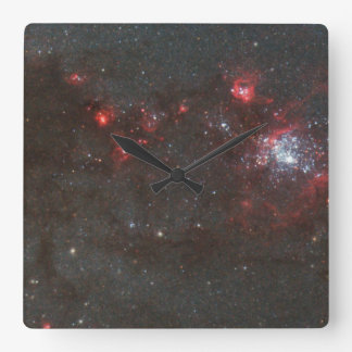 Young, Hot Stars in a Spiral Arm of the Whirlpool Square Wall Clocks