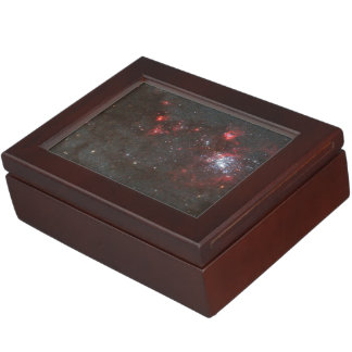 Young, Hot Stars in a Spiral Arm of the Whirlpool Keepsake Boxes