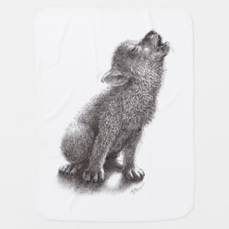 Young Howling Wolf Stroller Blanket