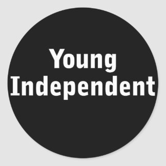 Young Independent Round Stickers