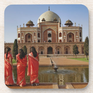 Young Indian ladies and Humayun s Tomb Delhi Beverage Coasters
